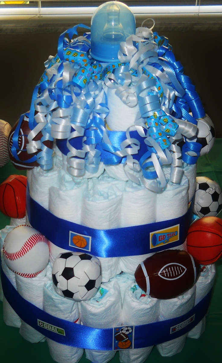 An All-Star Baby Shower Diaper Cake I did last year