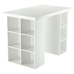 Counter Height Craft Table - White...or, if you're me, a PLACE TO PUT LOTS OF BOOKS!