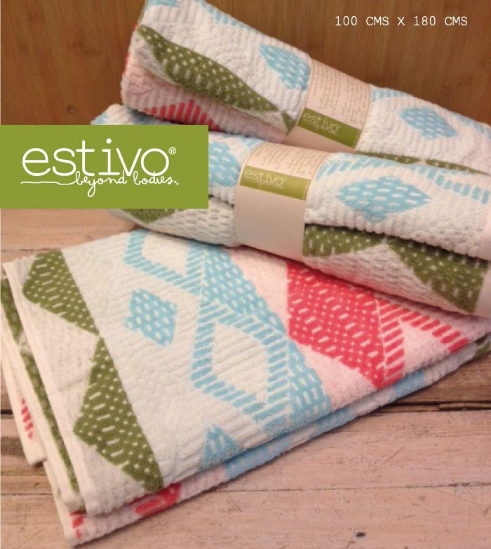 Estivo´s towels are made with 100% pure cotton making them exceptionally soft and absorbent.