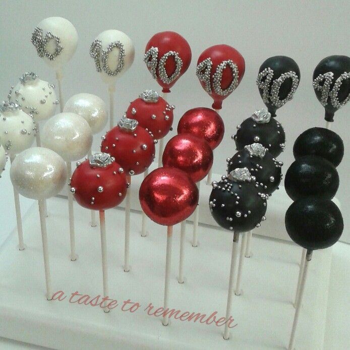 Glam cake pops for 40th birthday