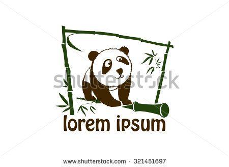 Cute panda icon