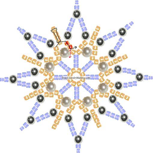 Beautiful snowflake to bead