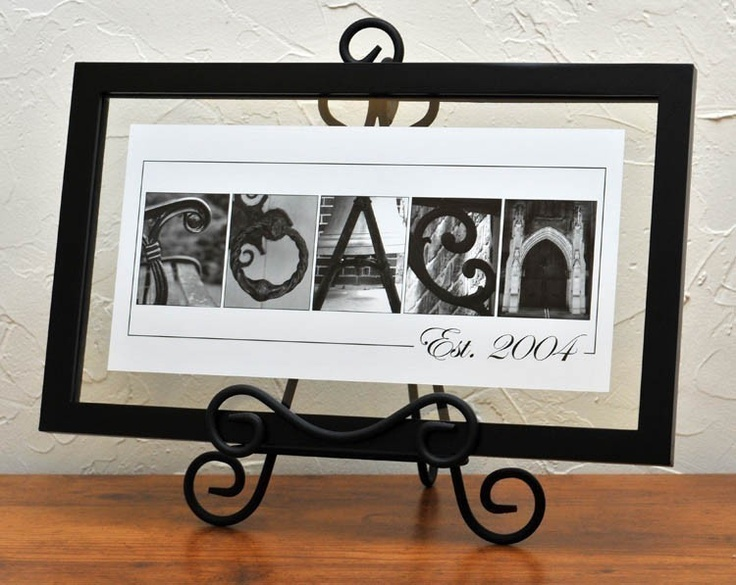 Unique Wedding Gift Personalized Alphabet Name Frame Architectural Letter photography - Floating Frame - Custom Personalized Name Frame