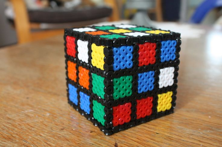 Rubiks Cube Hama Beads By Strepie93 Deviantart Com On
