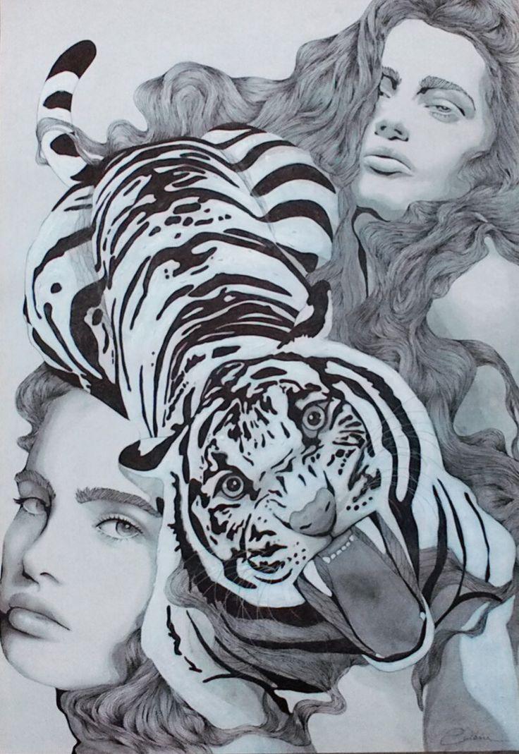 https://www.facebook.com/CarolCuibin/photos/a.735043606618110.1073741837.642629435859528/764988853623585/?type=3&theater  Tigres (grafito y tinta china)
