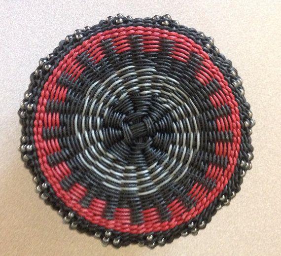 Hand Woven Basket Twined Basket by TwistedSpokes on Etsy