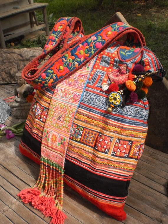 Tribal Vintage Hmong Bag Made With Upcycled Hmong by KulshiMumkin