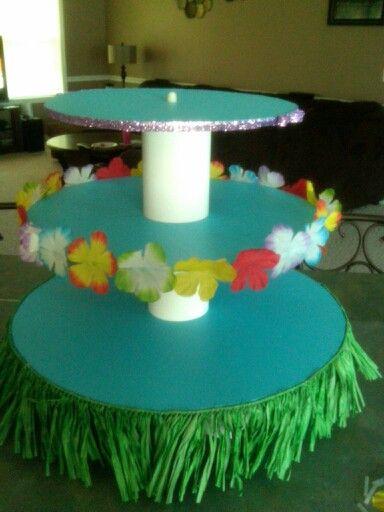 Hawaiian cupcake stand