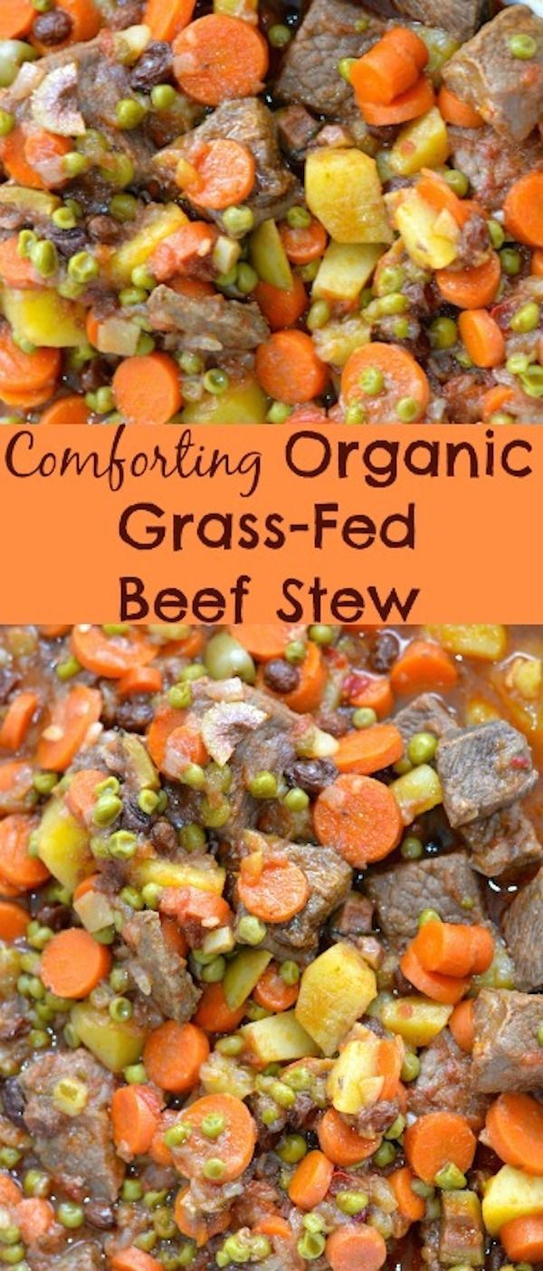 Comforting Organic Grass Fed Beef Stew recipe.
