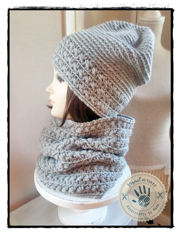 Toronto crochet cap and scarf set by ManoFactured on Etsy