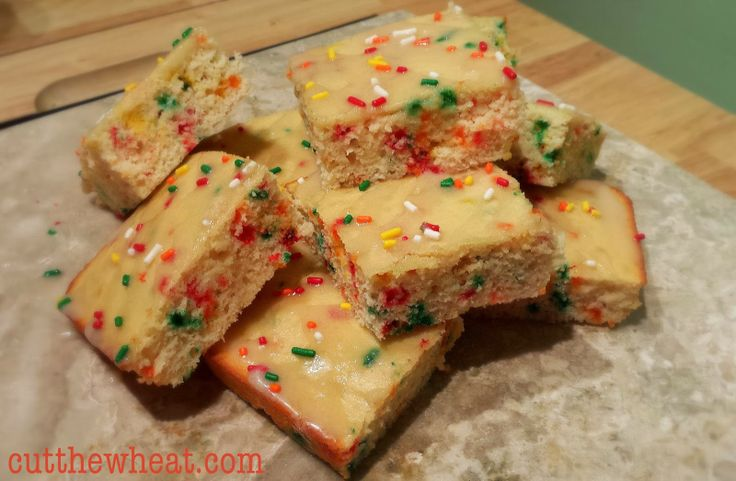 Low Carb Nut Cake Recipes: Low Carb Confetti Birthday Cake Bars