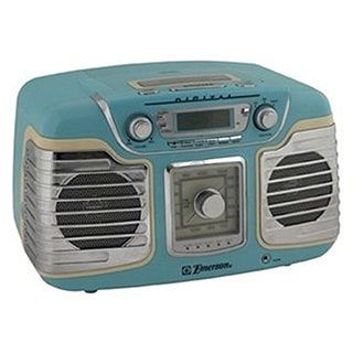Emerson RET66TQC Retro-style Radio/ CD Player | Overstock.com Shopping - The Best Deals on TV/DVD/VCR Combos