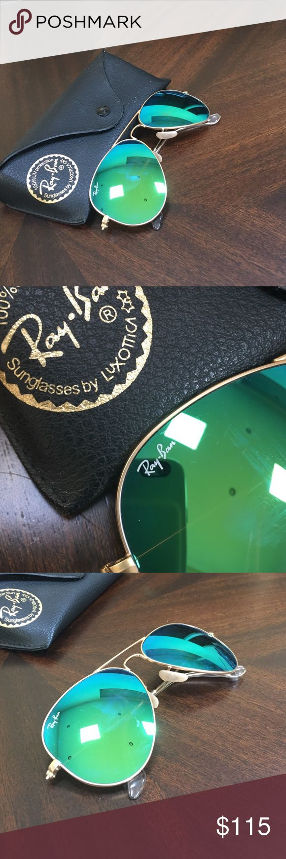 Mirrored ray bans! Great pair of authentic mirror ray bans! Lenses have minimal scratching. Ray-Ban Accessories Sunglasses