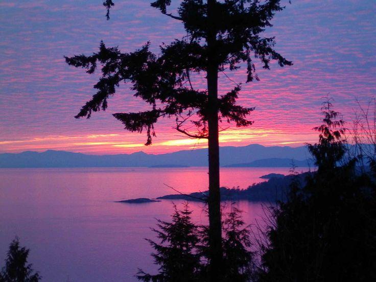 Stormy Night at Halfmoon Bay British Columbia, Canada – by Brenda Orzen