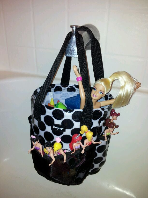 Thirty-One Gifts - Round About Caddy - Great bath toy keeper - it's portable, drain-able and cute!  Lots of pockets - Perfect for bath time fun!
