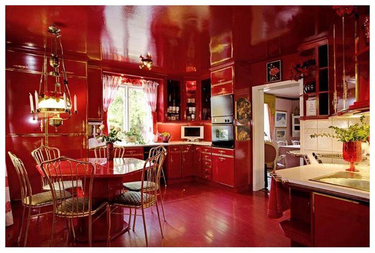 vardagsrum rött målat - Sök på Google