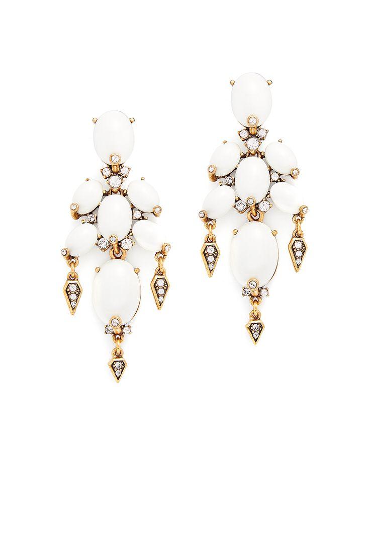 Oval Cabochon Earrings By Oscar De La Renta #renttherunway