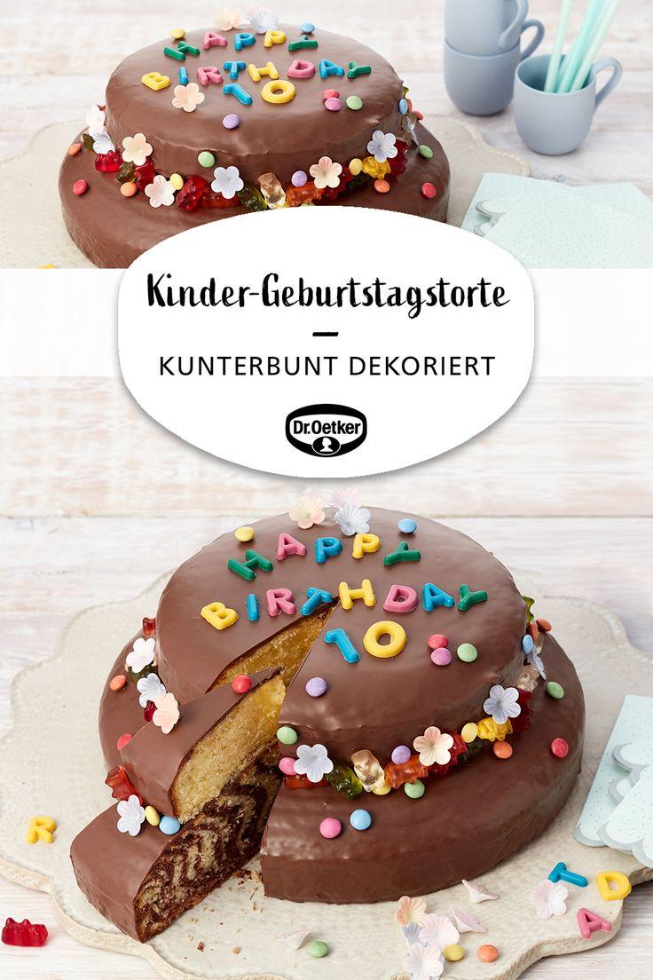 Gâteau d  'anniversaire pour enfants   – Kunterbunte Kinder-Rezepte