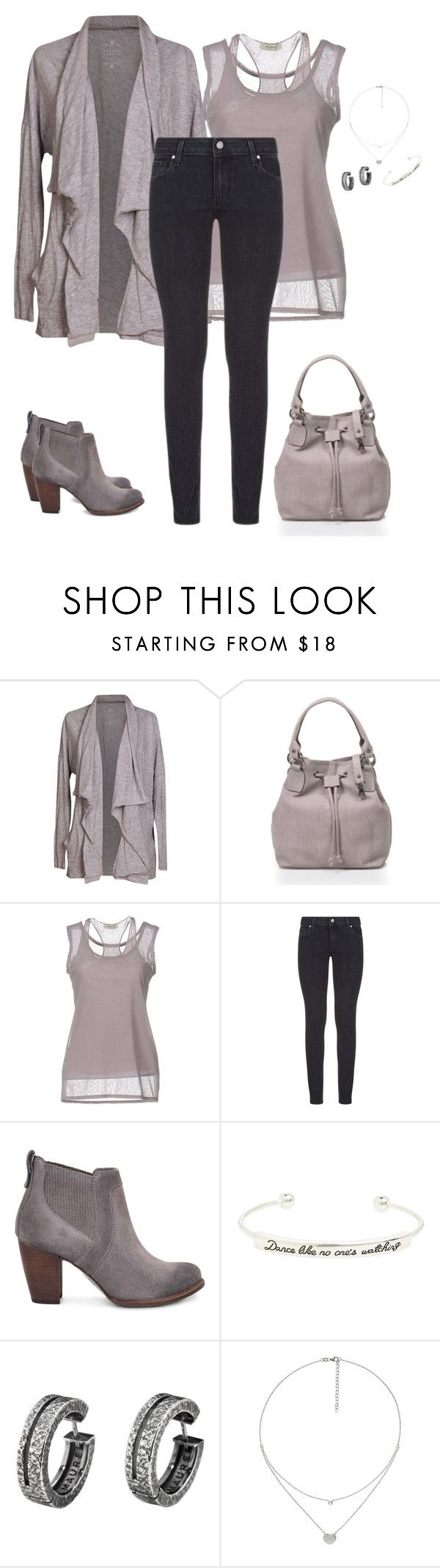 """Untitled #296"" by amea412 ❤ liked on Polyvore featuring Velvet by Graham & Spencer, Alpha Studio, Paige Denim, UGG, Topshop and Folli Follie"