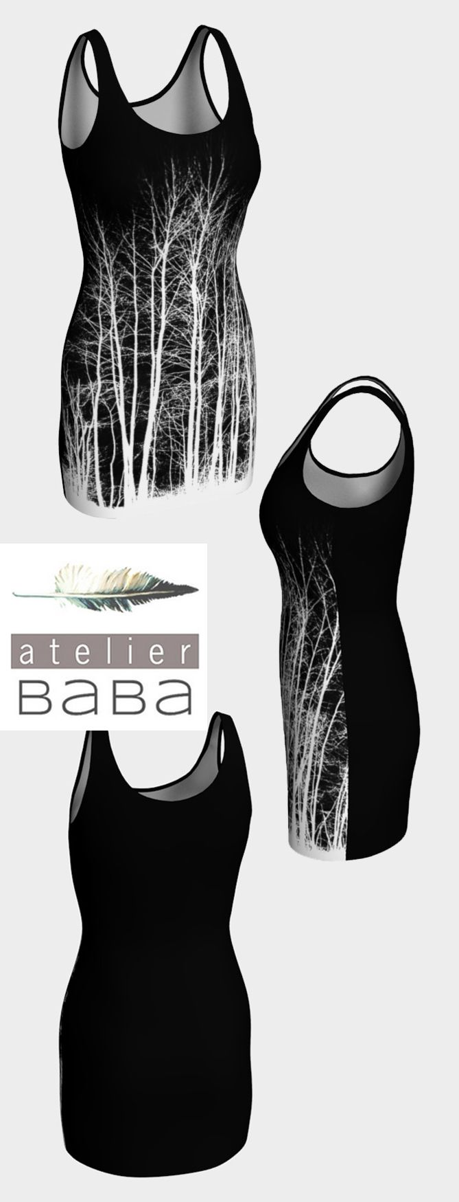 Midnight Forest Bodycon Dress by atelierbaba on Art of Where. Lovely.