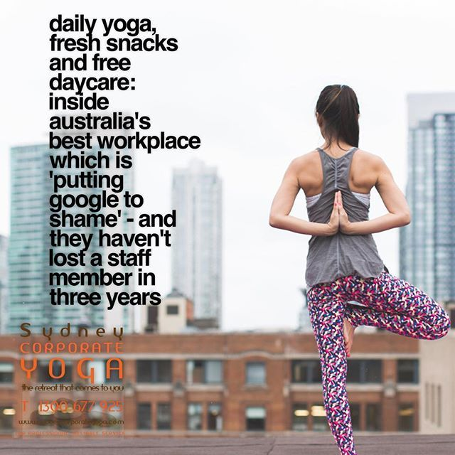 Daily yoga fresh snacks and FREE daycare: Inside Australia's best workplace which is 'putting Google to shame' - and they haven't lost a staff member in three years  http://bit.ly/2Hra93z