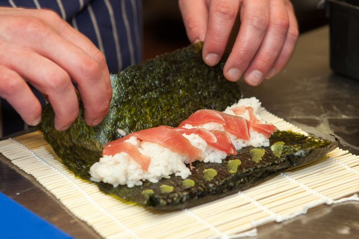 Chef Gary Jones carefully prepares some sushi for one of our sharing platters at BEST WESTERN The George Hotel www.thegeorgelichfield.co.uk