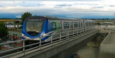 Skytrain arriving at Vancouver Airport USEFUL INFO ON THIS SITE