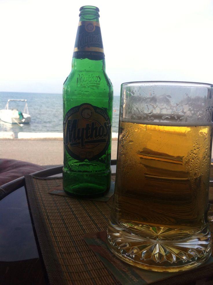 A beer at a The Brandy Shop, Roda Corfu