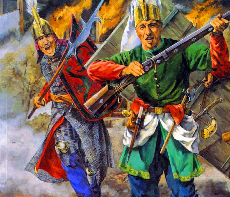 Ottoman Janissaries in battle