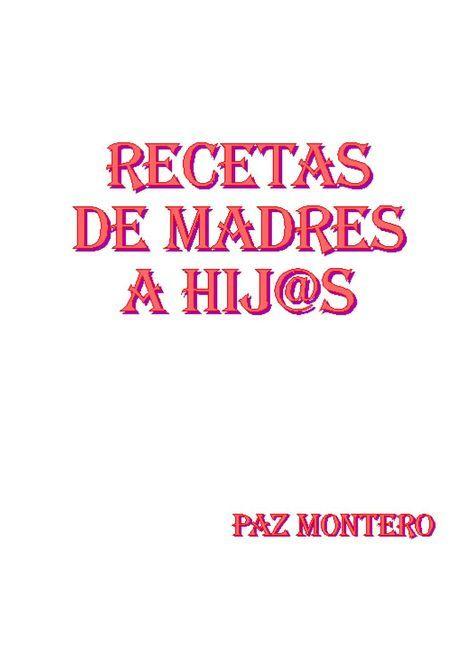 LIBRO RECETAS MPAZ libro de recetas