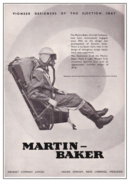 How many lives has the Martin Baker ejection seat saved. The illustratlon is of the Martin Baker Mark 4 Light Weight Fully Automatic Ejection Seat