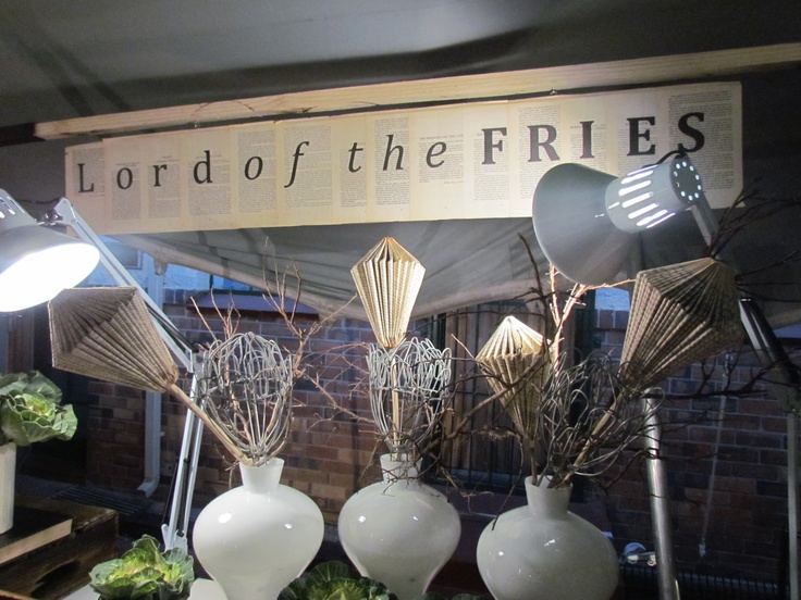 Lord of the Fries - Food station prepared by the forum | private label with a selection of fried baby calamari, fish goujons and hand cut chips for the Kingsmead RMB Private Bank Book Fair.