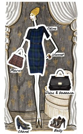 Look 13 - Sofia - Tartan: to find out what the Doll is wearing, click on the illustration...