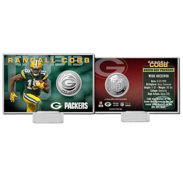 Randall Cobb Green Bay Packers Highland Mint Player Coin Card - $19.99
