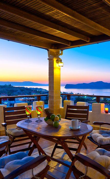 Sunset from Stalos in Chania- Villa Giorgos