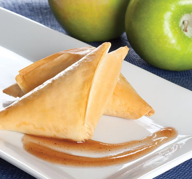 """Print Recipe Ingredients: 9 sheets Athens® Fillo Dough (9″x14″), thawed Cooking spray 2 medium Granny Smith apples, peeled and diced ½"""" ½ teaspoon lemon zest 1 Tablespoon lemon juice 3 Tablespoons sugar 1 Tablespoon all-purpose flour ¼ teaspoon cinnamon, ground 1/8 teaspoon nutmeg, ground Pinch salt Directions: Thaw one roll of fillo, following thawing instructions …"""