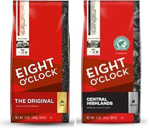 $2/2 Bags of Eight O'Clock Coffee