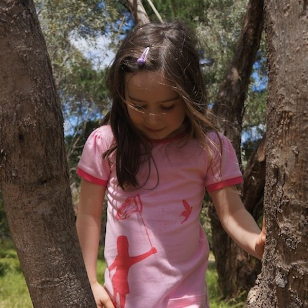 """Keani and our """"Fairy on the Loose"""" dress. Love this shot!"""