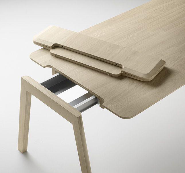 Alki Heldu Table in Oak with Extension by Jean Louis Iratzoki