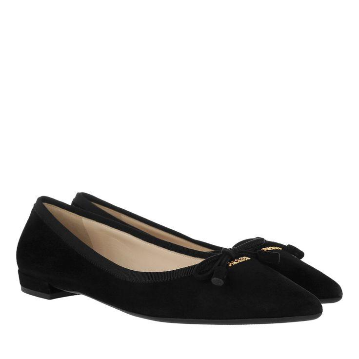Prada | Schuhe | Ballerinas Calzatura Donna Camoscio Leather Nero in schwarz - Fashionette