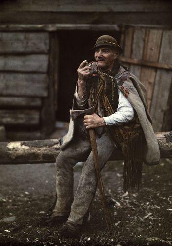 Valahian man, Ancient Dacian, Goral,Tatra Mountains, Zakopane, Poland.