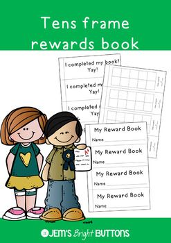 A great behaviour management tool that easy to implement! Just print off the pages you need, cut, staple and you're ready to go!There are two cover options and two back page options. These are simple printable rewards books that are based on a 10s frame.