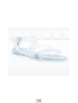 Sandale - Plastique argenté