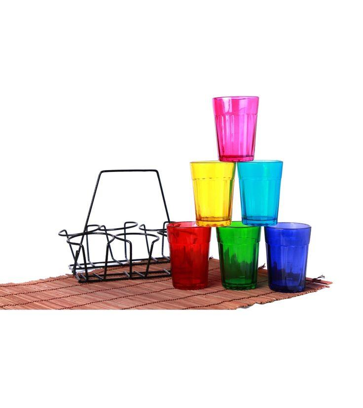 Multicoloured Tea Cup Set: Cutting Chai-Rang Barse #indianroots #homedecor #teacupset