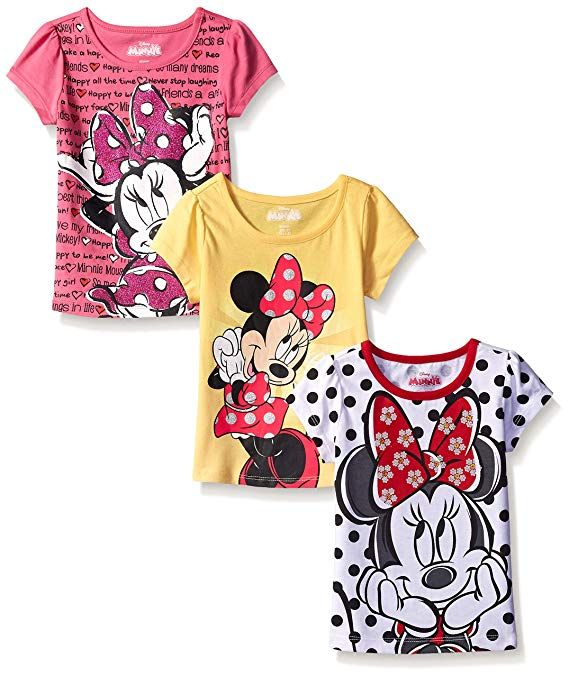 3aa1ea3ef843 Disney Little Girls  3 Pack Minnie Mouse T-Shirts