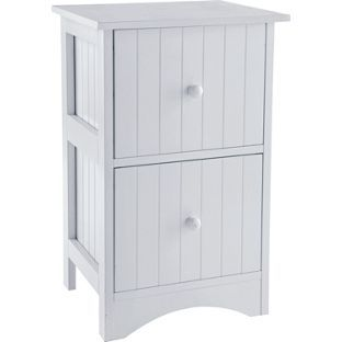 Tongue and Groove 2 Drawer Storage Unit - White. from Homebase.co.uk