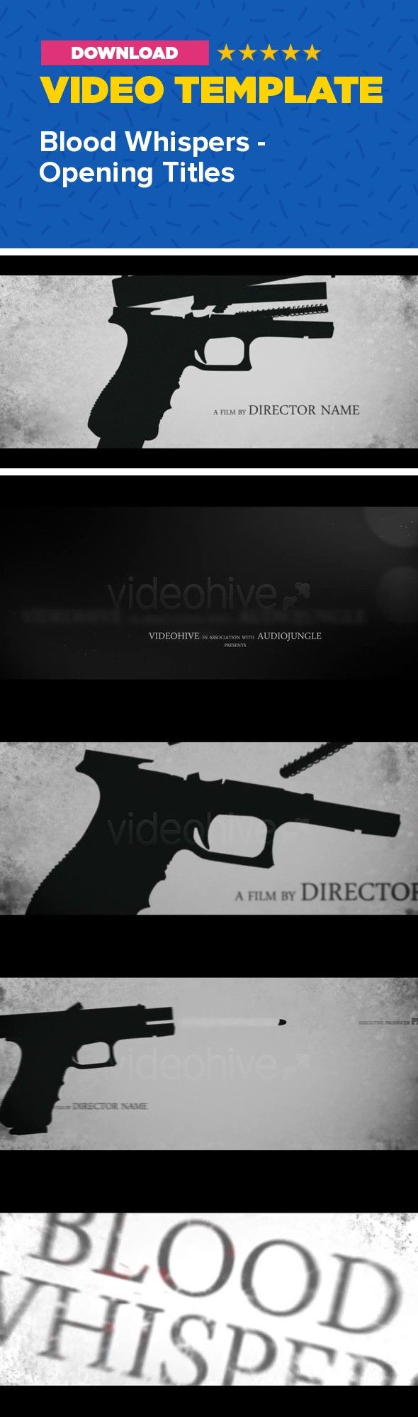 cinematic, crime, dark, film, grunge, horror, intro, investigation, movie, opener, opening, thriller, titles, trailer, tv show       	   	Hey everyone! Here's my newest After Effects project!    	Inspired by many movies and TV shows, I've made this cinematic thriller-horror animation. I hope someone will find it useful for movie, series or game opener… Take a look at 720p version on YouTube.    CS4, CS5, CS5.5, CS6 compatible HD 1280×720 25 fps Duration: 01:07 8 text placeholders + 1 final…