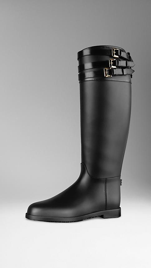 Belted Equestrian Rain Boots   Burberry