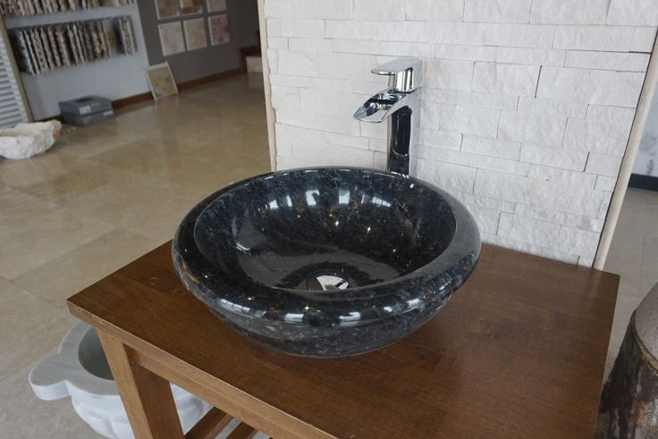 Berlin Antique Blue marble sink  #bathroom #marble #sink #vesselsink #stonesink #naturalstone