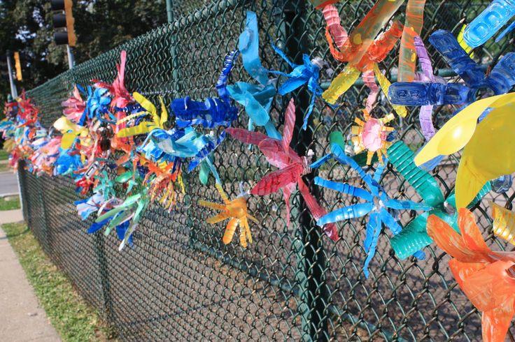 Chain Link Fence Art | Share | garden | Fence art, Art ...
